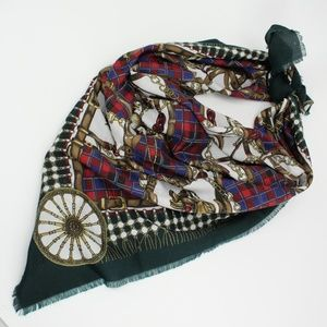 Vintage Equestrian Theme Large Scarf
